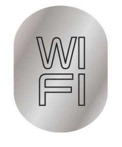 T709901 Placa pictograma aluminio satinado WI FI