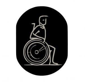 T719914 Plaque pictogramme aluminium noir Handicapé