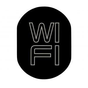 T719919 Wi FI pictogram Black aluminium