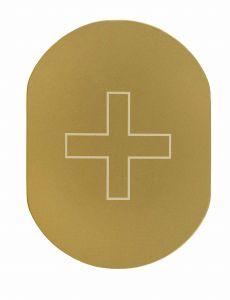 T709901 Placa pictograma aluminio dorado Enfermeria
