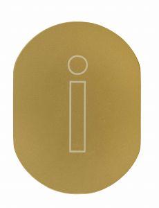 T719930 Plaque pictogramme aluminium doré Information