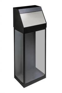 T774057 Gettacarte trasparente nero sportello a spinta 50 litri