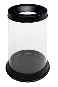 T774041 Gettacarte trasparente antifuoco 110 litri