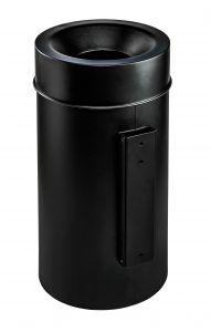 T770211 Wall mounted fireproof waste bin Black steel 50 liters