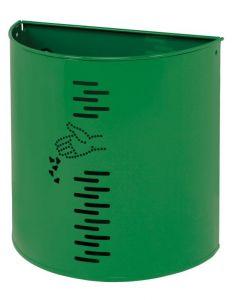 T778052 Corbeille à demi-lune en acier vert pour exterieure 20 litres