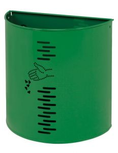 T778052 Papelera semicircular acero verde para exteriores 20 litros