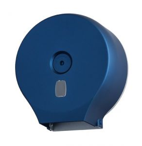 T104305 Distributore di carta igienica in rotolo ABS blu soft-touch 400 metri