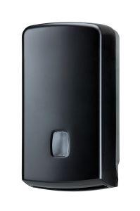 T104256 Dispensador de papel higiénico plegado/rollos 500 hojas ABS negro