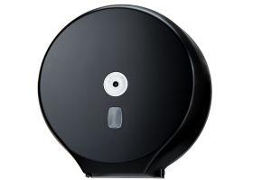 T104205 Distributore di carta igienica in rotolo ABS nero 400 metri