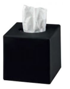 T130020 Tissues dispenser black ABS square