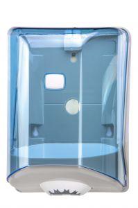 T908124 Center pull paper towel dispenser blue ABS
