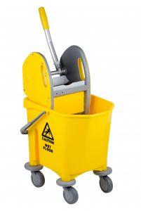 T705000 Single bucket mop trolley with wringer 25 lt
