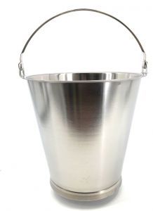 SE-G10B Stainless steel bucket graduated 10 liters with base