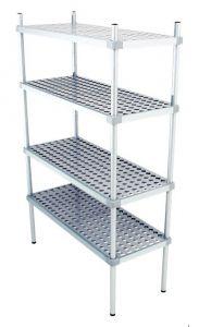 Scaffale in alluminio 4 ripiani dim. cm 110x50x200h code: SN50110H200