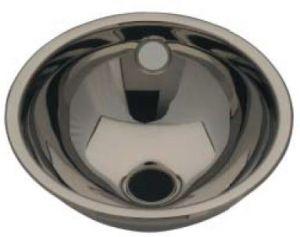 LX1100 Lavabo sphérique en acier inoxydable LX1000, drain central 205x235x115 mm - LUCIDO -