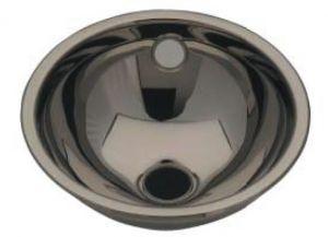 LX1080 Lavabo esférico de acero inoxidable desagüe central 420X455X160 mm - LUCIDO -