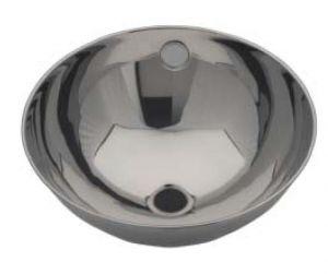 LX1200 Lavabo circular con borde enrollado en acero inoxidable 360X370X155 mm -LUCIDO-