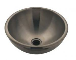LX1220 Double wall stainless steel countertop basin 375x415x160 mm -LUCIDO-