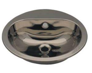 LX1230 Lavabo circular con orificio para grifería en acero inoxidable 414x490x160 mm - LUCIDO -