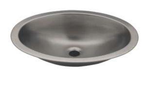 LX1280 Lavabo ovalado en acero inoxidable 510x390x155 mm - LUCIDO -