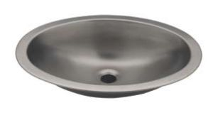 LX1280 Vasque ovale en acier inoxydable 510x390x155 mm - LUCIDO -