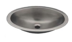 LX1310 Oval basin in stainless steel 380X280X125 mm - LUCIDO -