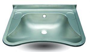 LX1490 Lavabo para discapacitados en acero inoxidable AISI 304 650x540x156 mm - SATIN-