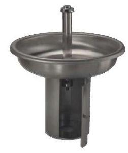 LX1590 Lavabo circular de acero inoxidable con 6 grifos de soporte diam.1000x800 mm