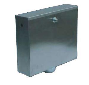 LX3200 Boîte à décharges à bouton poussoir ou pneumatique 400x112x373 mm SATIN