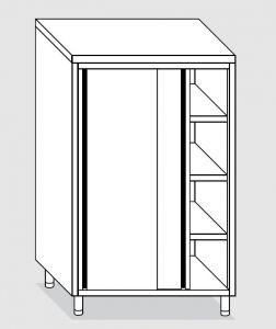24208.10 Armadio verticale agi cm 100x60x180h porte scorrevoli - 3 ripiani interni regolabili