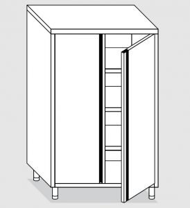 24302.10 Armadio verticale agi cm 100x70x160h porte a battente - 3 ripiani interni regolabili