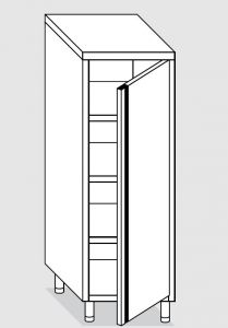 24201.05 Armadio verticale agi cm 50x60x200h porta a battente - 3 ripiani interni regolabili