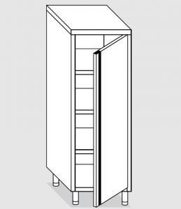 24300.06 Armadio verticale agi cm 60x70x160h porta a battente - 3 ripiani interni regolabili