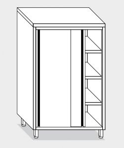 14304.13 Armadio verticale g40 cm 130x70x160h porte scorrevoli - 3 ripiani interni regolabili