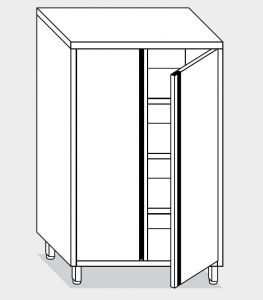 14202.08 Armadio verticale g40 cm 80x60x160h porte a battente - 3 ripiani interni regolabili