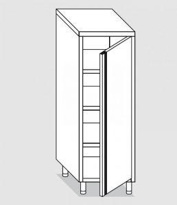 34206.06 Armadio verticale past cm 60x60x180h porta a battente - 3 ripiani interni regolabili