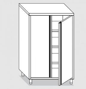 34203.07 Armadio verticale past cm 70x60x200h porta a battente - 3 ripiani interni regolabili