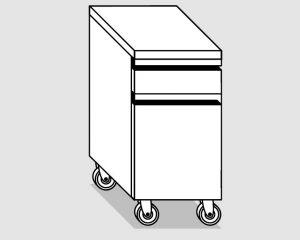 45230.04 Cassettiera ruote 1c gn1/1 h10 1c bottigliera agi cm 40x70x84h