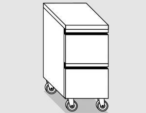 45200.04 Cassettiera ruote 2c gn1/1 h20 agi cm 40x70x84h