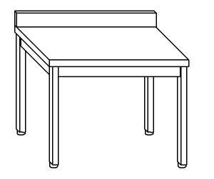 TL5100 Tavolo da lavoro in acciaio inox AISI 304 alzatina 80x60x85