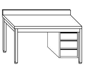 TL5115 mesa de trabajo en acero inoxidable AISI 304