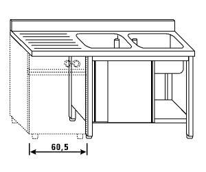 LT1187 Lave el armario para lavavajillas