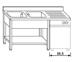 LT1201 Wash legs and shelf dishwasher