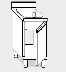 21600.05 Lavatoio armadio  agi cm 50x60x85h 1 vasca - porta battente