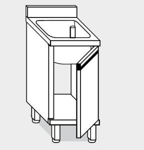11600.06 Lavatoio armadio g40 cm 60x60x85h 1 vasca - porta battente