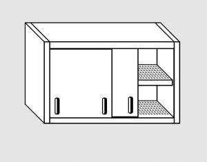 62002.15 Pensile porte scorrevoli 1 ripiano sgocciolatoio cm 150x40x60h
